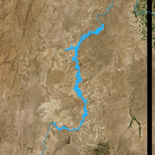 Fly fishing map for Lake Owyhee, Oregon