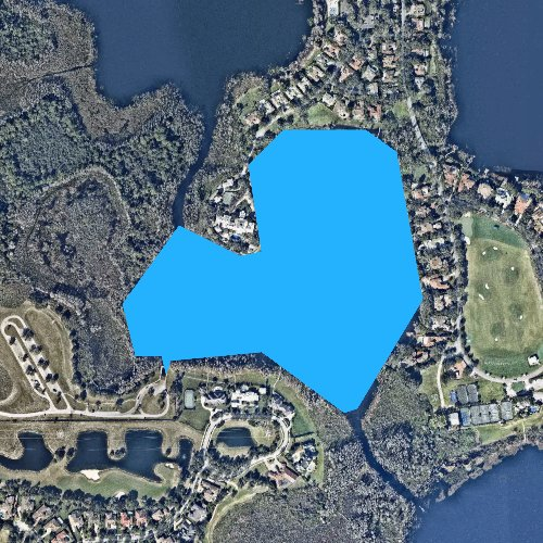 Fly fishing map for Lake Palmer, Florida