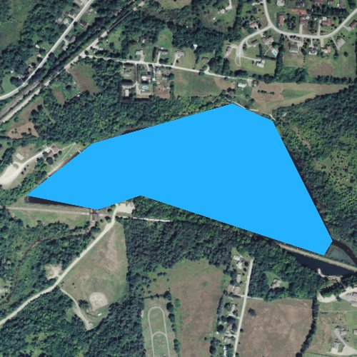 Fly fishing map for Lake Paran, Vermont