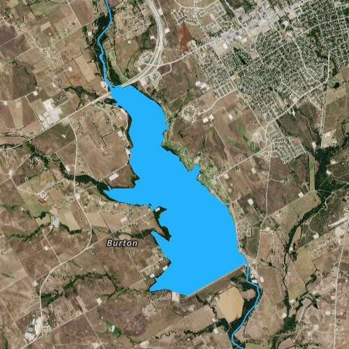 Fly fishing map for Lake Pat Cleburne, Texas