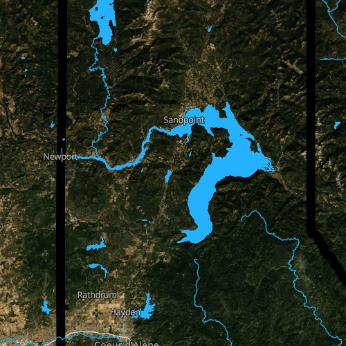Fly fishing map for Lake Pend Oreille, Idaho