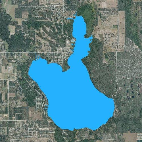 Fly fishing map for Lake Pierce, Florida