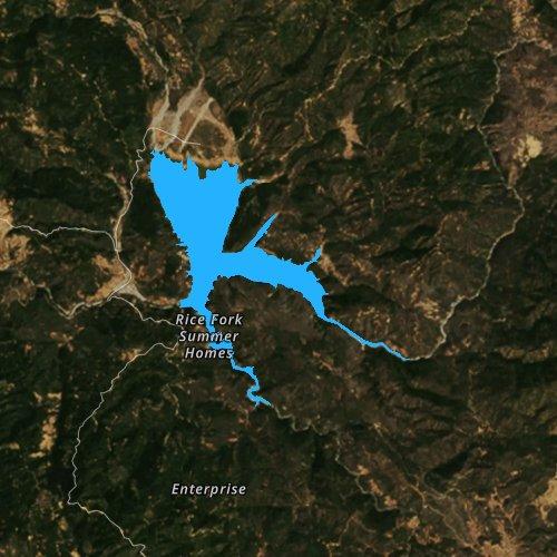 Fly fishing map for Lake Pillsbury, California
