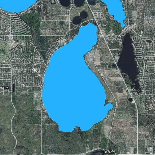 Fly fishing map for Lake Placid, Florida