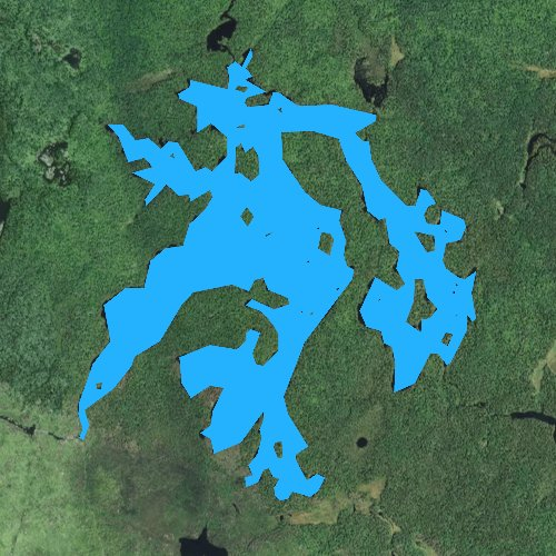 Fly fishing map for Lake Polly, Minnesota
