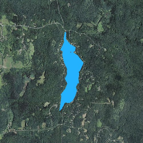 Fly fishing map for Lake Raponda, Vermont