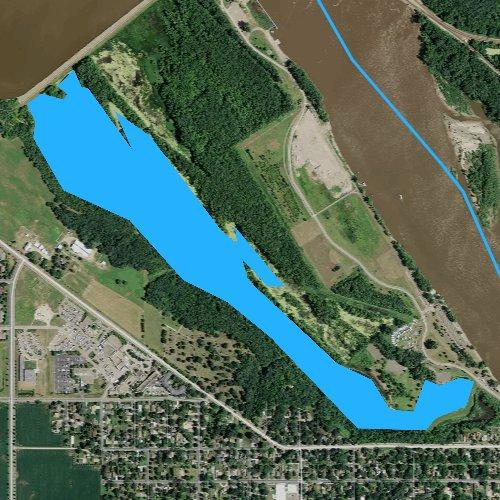 Fly fishing map for Lake Rebecca, Minnesota