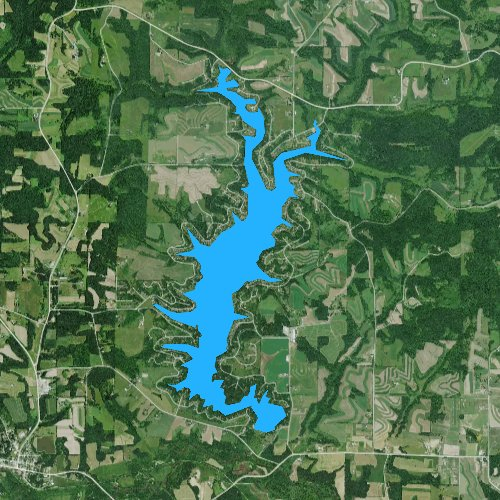 Fly fishing map for Lake Redstone, Wisconsin