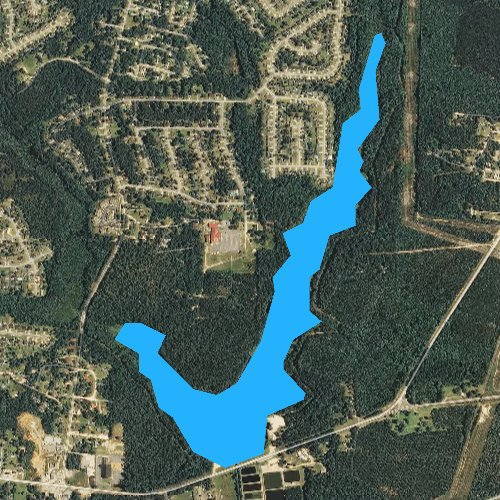 Fly fishing map for Lake Rim, North Carolina