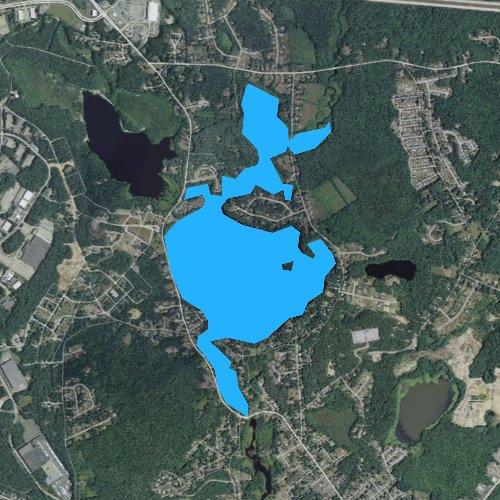 Fly fishing map for Lake Sabbatia, Massachusetts