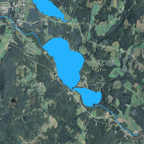 Fly fishing map for Lake Salem, Vermont