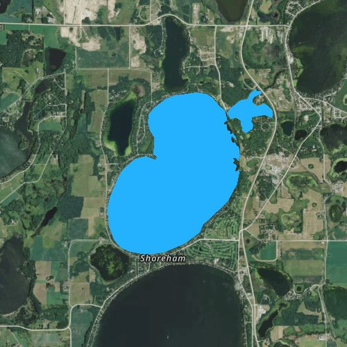 Fly fishing map for Lake Sallie, Minnesota