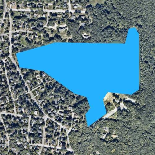 Fly fishing map for Lake Saltonstall, Massachusetts