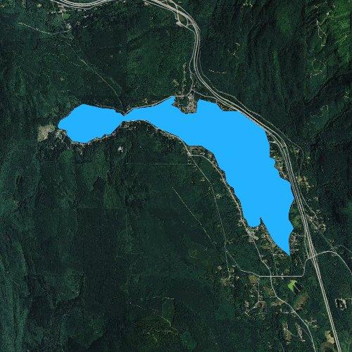 Fly fishing map for Lake Samish, Washington