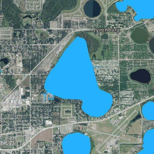 Fly fishing map for Lake Sanitary, Florida
