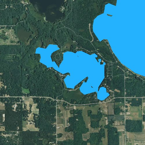 Fly fishing map for Lake Sapphire, Michigan
