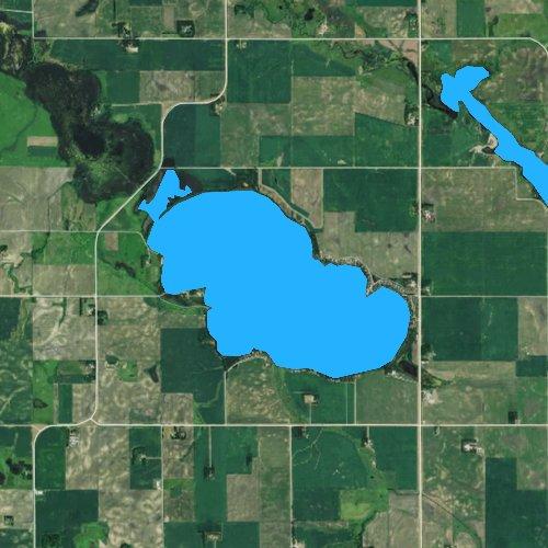 Fly fishing map for Lake Sarah, Minnesota