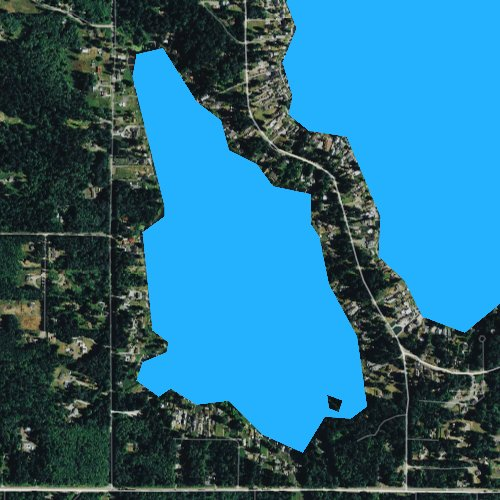 Fly fishing map for Lake Shoecraft, Washington