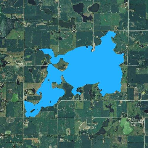 Fly fishing map for Lake Sinai, South Dakota
