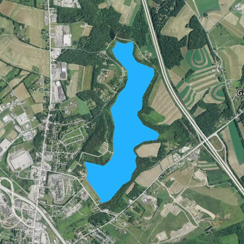 Fly fishing map for Lake Somerset, Pennsylvania