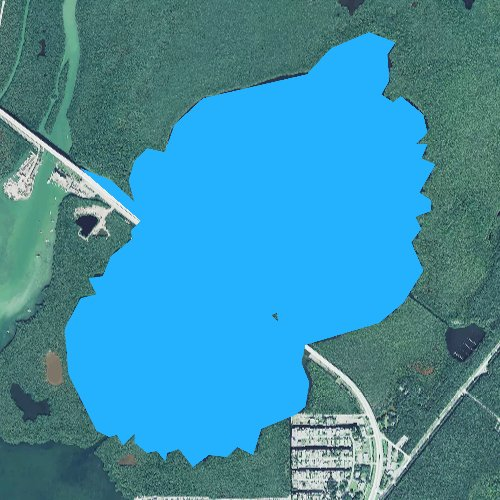 Fly fishing map for Lake Surprise, Florida