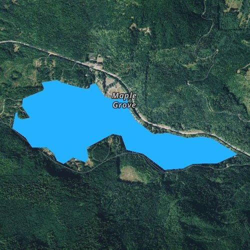 Fly fishing map for Lake Sutherland, Washington