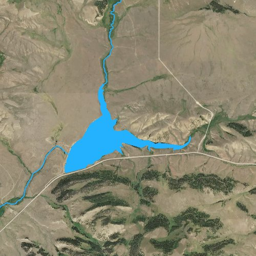 Fly fishing map for Lake Sutherlin, Montana