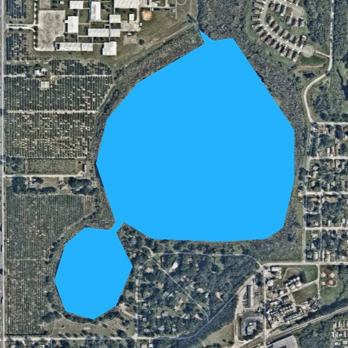 Fly fishing map for Lake Swoope, Florida