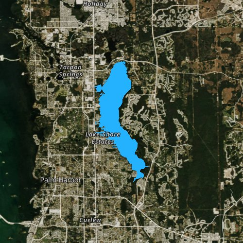 Fly fishing map for Lake Tarpon, Florida