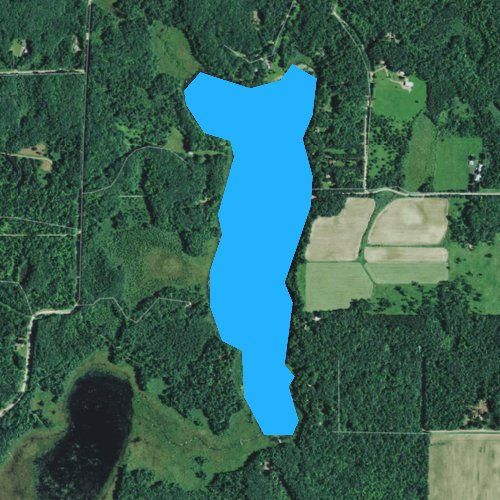 Fly fishing map for Lake Thirty, Wisconsin