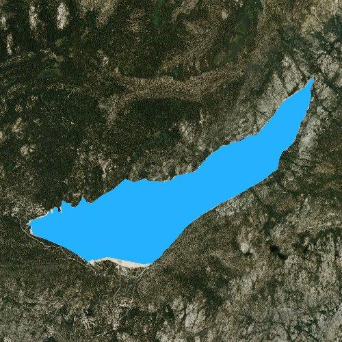 Fly fishing map for Lake Thomas A Edison, California