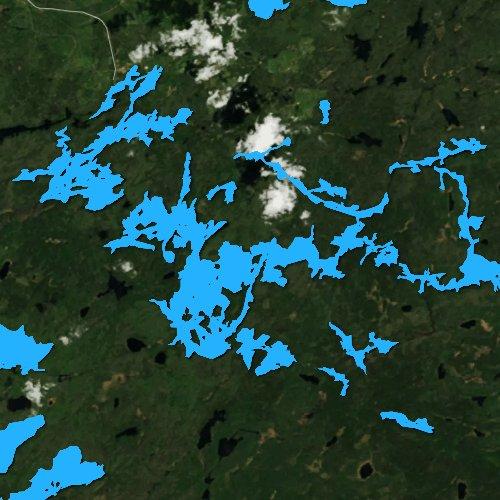 Fly fishing map for Lake Three, Minnesota