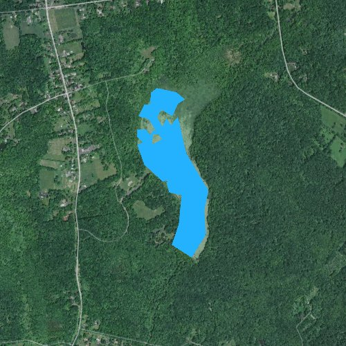 Fly fishing map for Lake Towhee, Pennsylvania