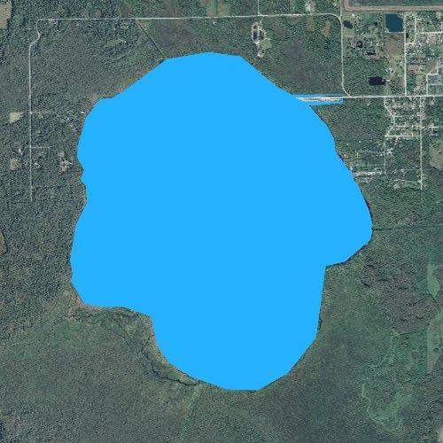 Fly fishing map for Lake Trafford, Florida