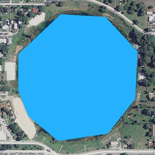 Fly fishing map for Lake Verona, Florida