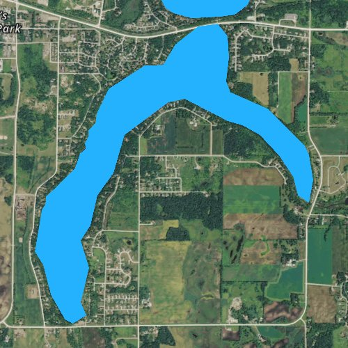 Fly fishing map for Lake Victoria, Minnesota