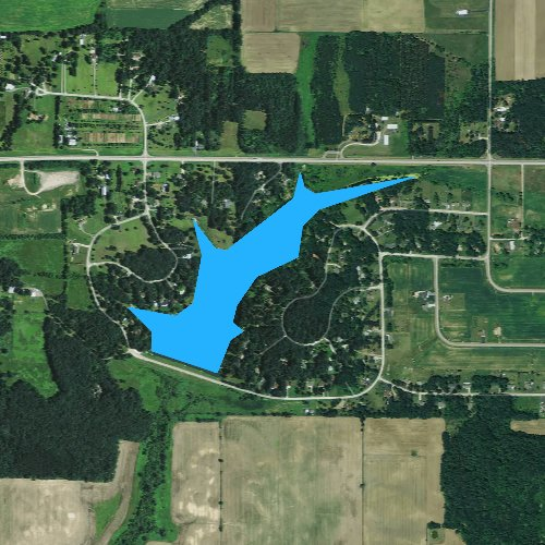 Fly fishing map for Lake Virginia 2, Wisconsin