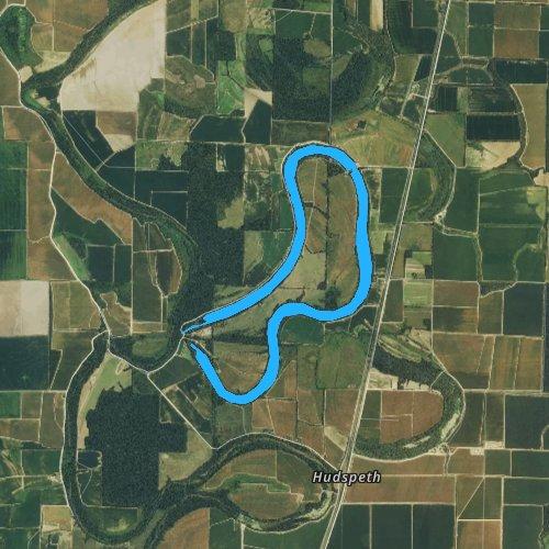Fly fishing map for Lake Wallace, Arkansas