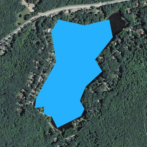Fly fishing map for Lake Washington, Rhode Island