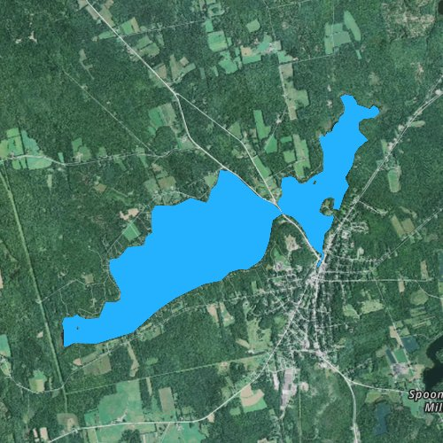 Fly fishing map for Lake Wassookeag, Maine