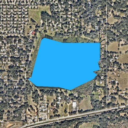 Fly fishing map for Lake Weeks, Florida