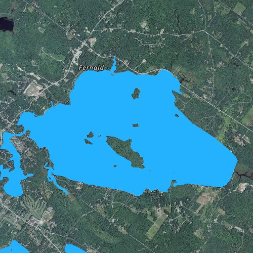 Fly fishing map for Lake Wentworth, New Hampshire