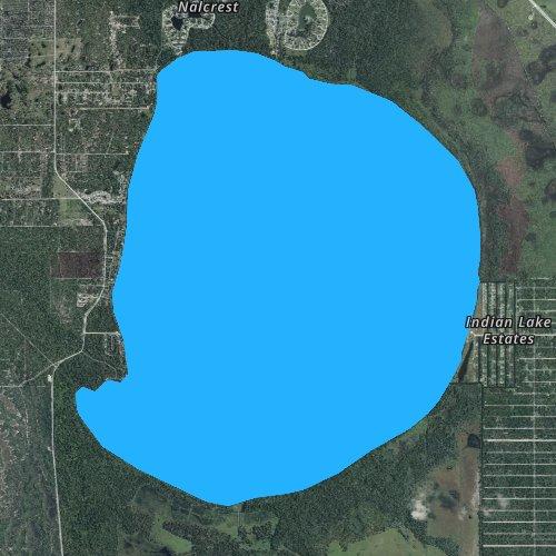 Fly fishing map for Lake Weohyakapka, Florida