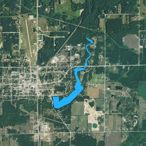 Fly fishing map for Lake White Cloud, Michigan