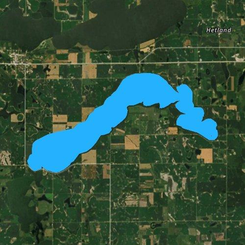 Fly fishing map for Lake Whitewood, South Dakota