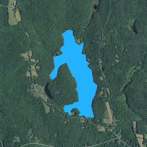 Fly fishing map for Lake Winchester, Connecticut