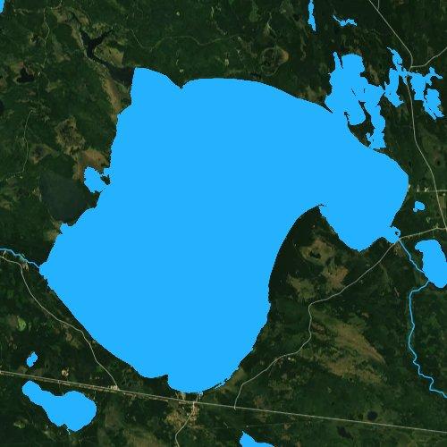 Fly fishing map for Lake Winnibigoshish, Minnesota