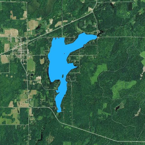 Fly fishing map for Lake Winter, Wisconsin