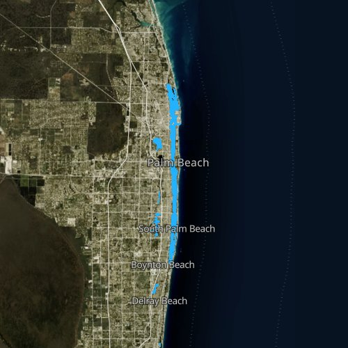 Fly fishing map for Lake Worth, Florida