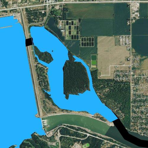Fly fishing map for Lake Yankton, South Dakota